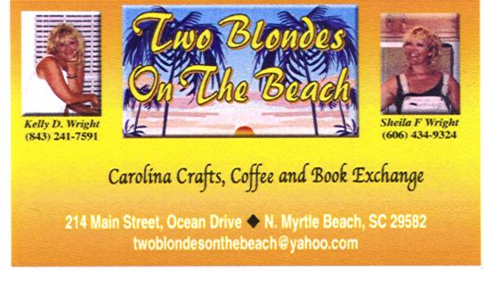 Two Blondes at the Beach, Ocean Drive, North Myrtle Beach, SC