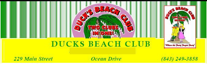 The Beach Club Seafood Cafe formerly Duck's Beach Club, Ocean Drive, North Myrtle Beach, SC
